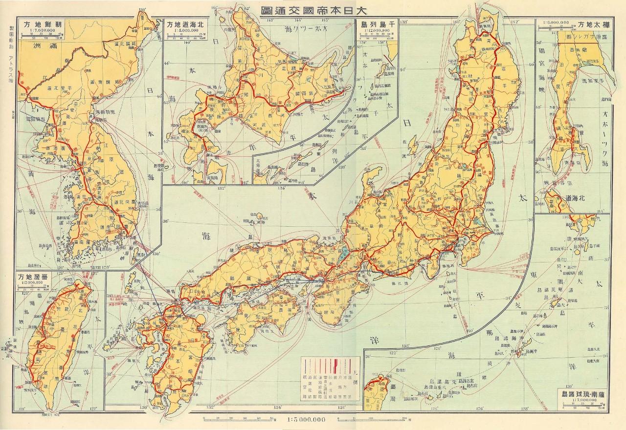 日本交通图