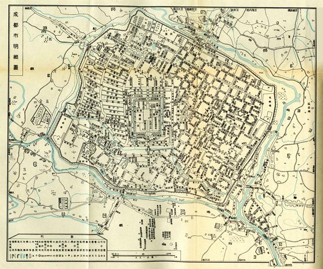 20世紀初成都地圖
