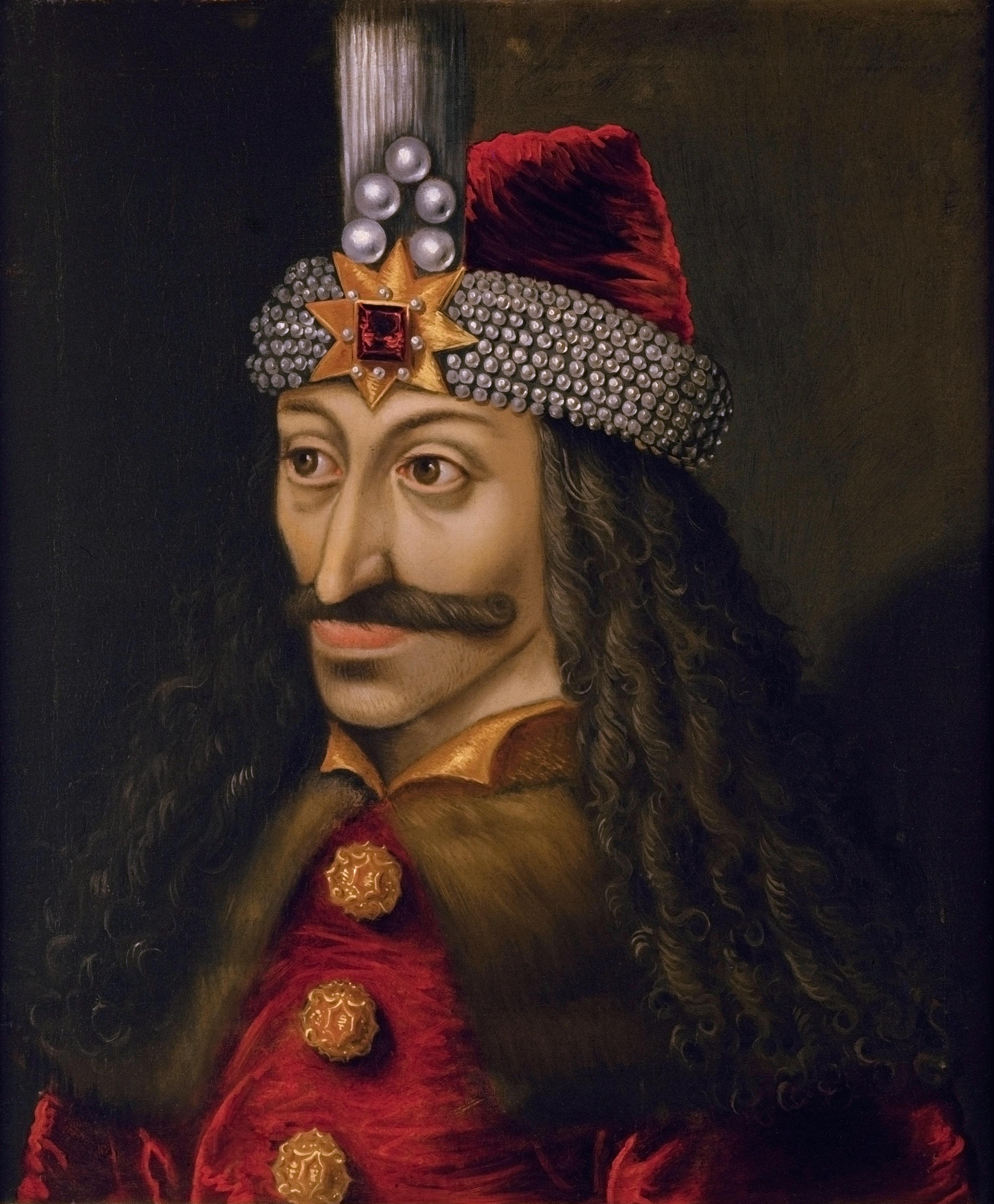 """弗拉德三世·采佩什(1431年11月或12月—1476年12月,""""采佩什""""在羅馬尼亞語中的意思是""""穿刺"""",因此被人稱作穿刺公)"""