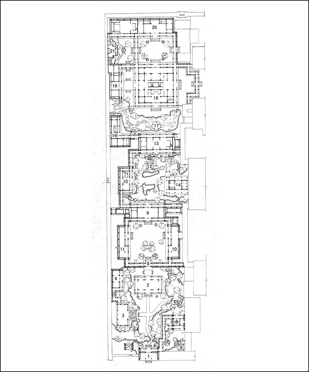 寧壽宮花園平面圖