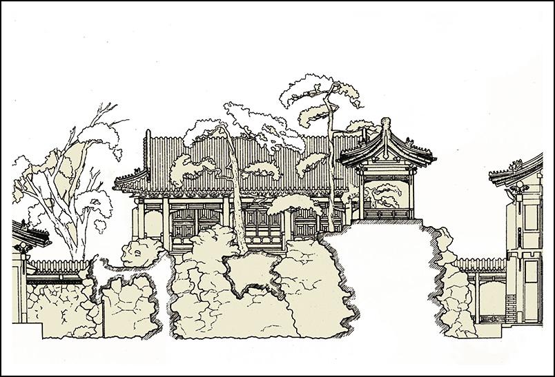 寧壽宮花園第三進院剖面圖