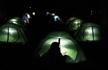 安徽高校选修课教搭帐篷 室内体验野营