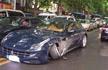 650万法拉利撞上雪铁龙 法拉利车轮掉了