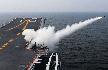 辽宁舰训练画面:8架歼15上舰 首见武器开火