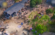 养殖场遭强拆 上千头猪满山跑