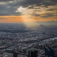 404米高空看北京初雪