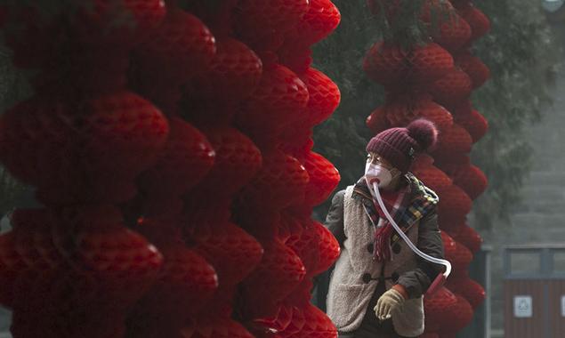年味儿越来越浓!北京公园挂起红灯笼迎春节