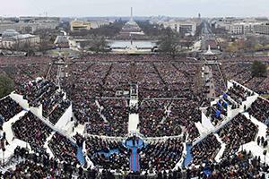 直击美国新总统特朗普就职典礼现场