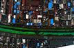 2.2公里长河道人工造绿 铺上万平米纱网防尘