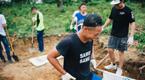 中国青年在柬埔寨当志工