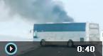 哈萨克斯坦大巴起火