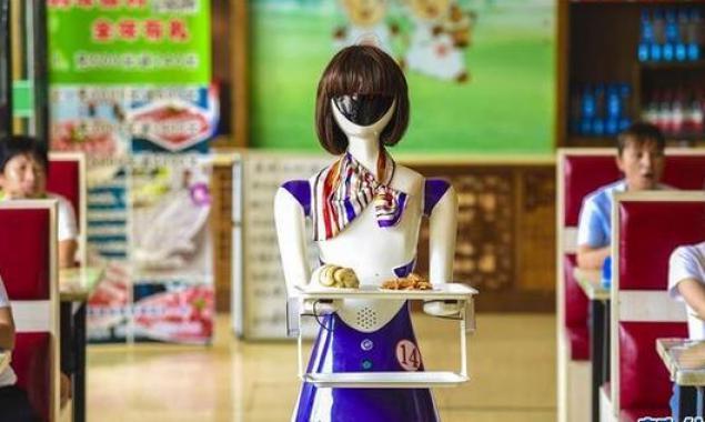 """深州:机器人在小餐厅""""上岗"""""""