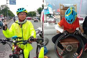 北京12岁男孩骑车1700公里到杭州 晒成黑人