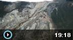 金沙江被阻断形成堰塞湖