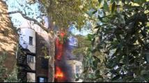 沙特驻伦敦使馆附近发生火灾 整栋楼被浓烟吞没