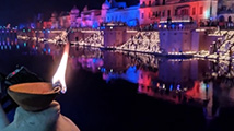 印度排灯节油灯数创吉尼斯纪录