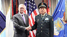 魏凤和与美国防部长会谈:落实共识 不冲突不对抗