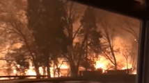 美国加州又遭大规模山火侵袭