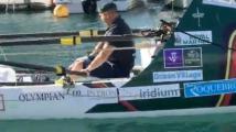 英国残疾老兵划船横跨大西洋