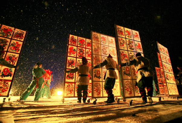 Métier traditionnel de battre le fer au district de Yu de Zhangjiakou