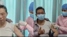 钟南山接种新冠疫苗时竖大拇指