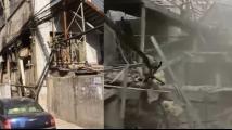 湖北十堰爆炸菜场事发前后对比