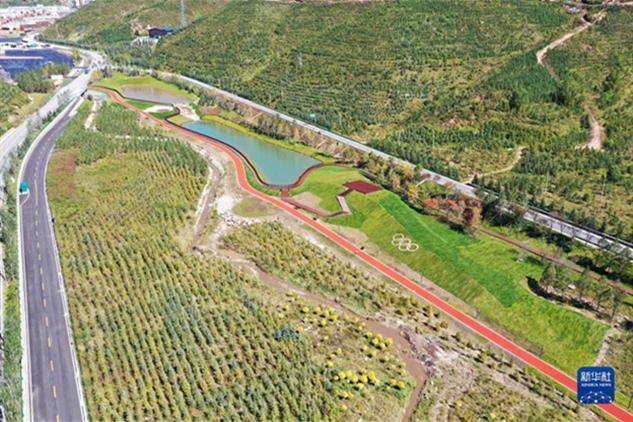 Construction d'un parc sportif de Taizichenng à Chongli