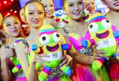 南京青奥会吉祥物公布 名字叫砳砳