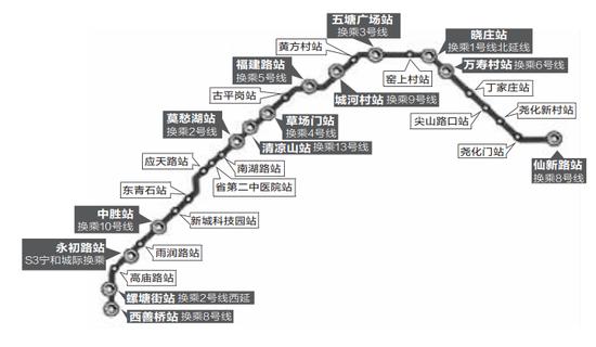 地铁7号线有望上半年开工 其中换乘站多达13个