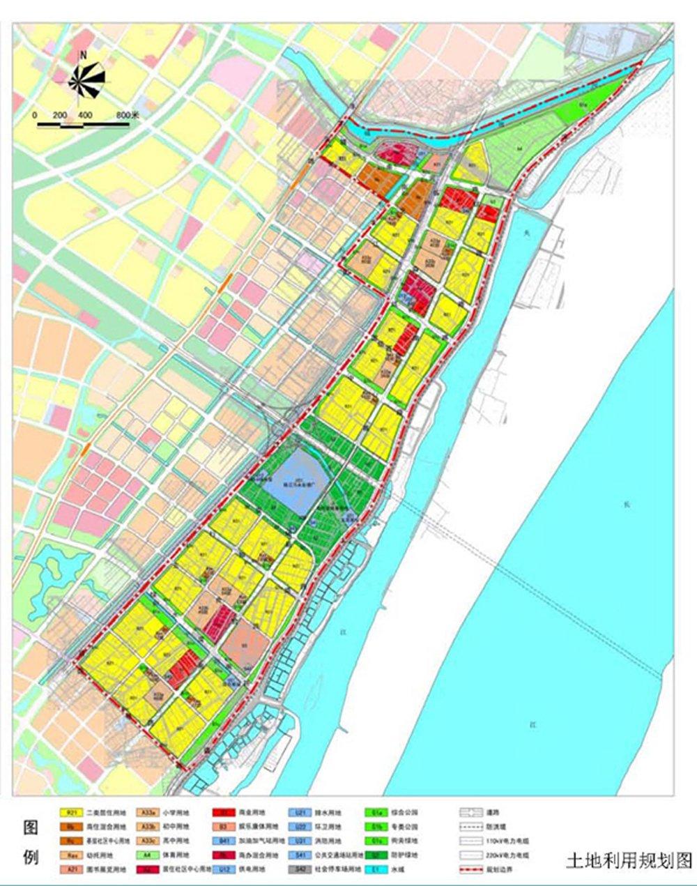 南京市浦口新城部分区域规划公示