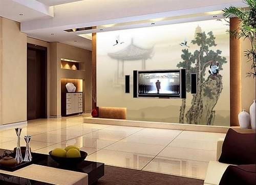 客厅电视背景墙装修效果图 100款现代简约小户