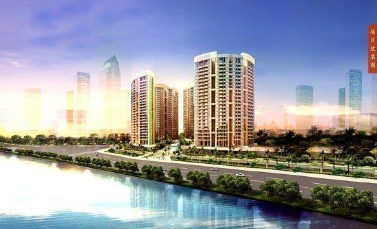 项目规划有无边际江景泳池、生态阳光停车场、中轴景观会所、并首创