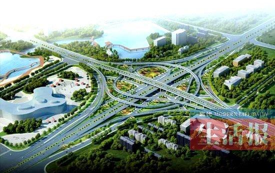 南宁三座立交桥开通 从青山去五象湖一路通畅 图