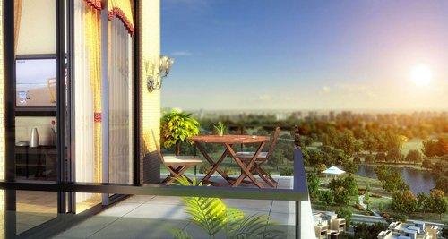 大宅6#楼可看中庭园林、广西药用植物园双重景观-品质大宅风景独好图片