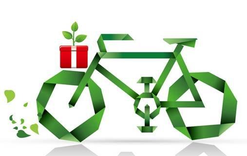 """10月24-26日""""牛顿@苹果,绿色出行""""自行车骑行队伍快乐出发,此次活动与"""