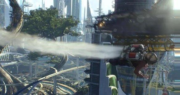 电影《明日世界》里的城市,源于七八十年代的复古未来感