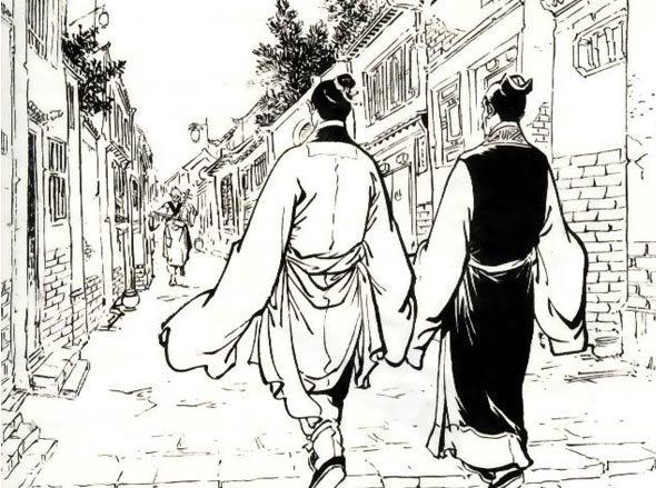 《碧血剑》中,袁承志与李岩听盲者唱歌:今日的一缕英魂,昨日的万里长城
