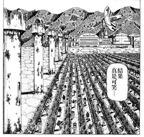 监狱化管理的绿洲农场,哨塔上配备了重型武器