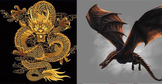 中国龙与西方龙