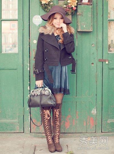 元旦穿衣攻略 暖外套+潮靴UP桃花