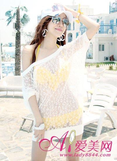 性感必备罩衫穿比基尼防晒女性性感-蕾丝资主播韩国攻略沙滩图片