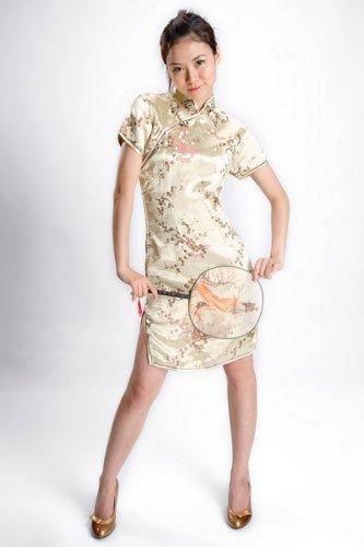 旗袍+高跟鞋 性感俏皮中国风情
