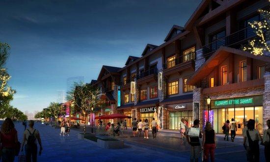 东西两大园区,4层大型旅游购物中心,业主会所,幼儿园,美式风情商业图片