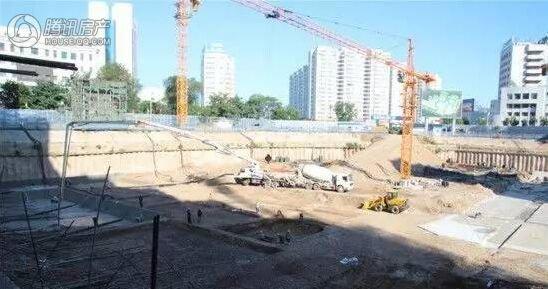 天马·时代广场商业部分已全面开工