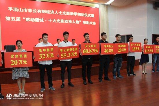 鹰城十大光彩助学人物常绿集团董事长刘涛受表彰!