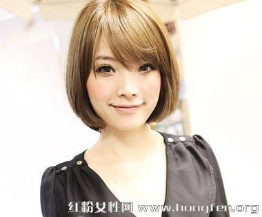 方脸型适合什么发型 方脸女生中短发发型设计图片