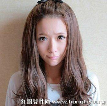 人气款女生中长发发型 各种脸型都适合图片