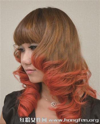 方脸适合什么发型 方脸女生梨花头发型的染发颜色-方脸合适发型 梨花图片