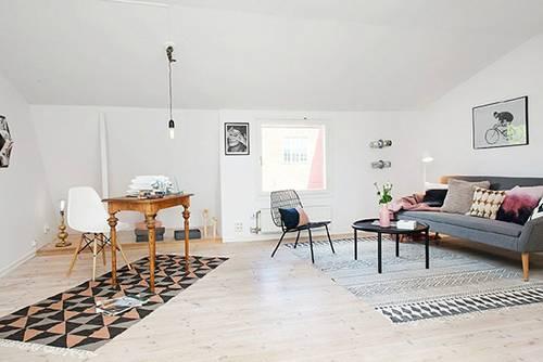 【客厅】 极简空间 简约雅致北欧家居 宽敞的客厅中没有设置任何功图片