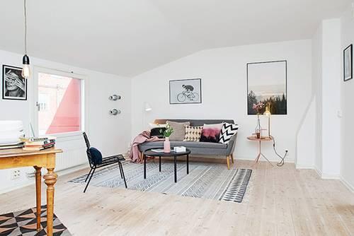 【客厅】 极简空间 简约雅致北欧家居 宽敞的客厅中没有设置任何功能图片